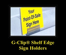 G-CLIP� Shelf Edge Sign Holders